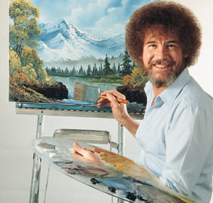 Bob Ross mindfulness joy painting